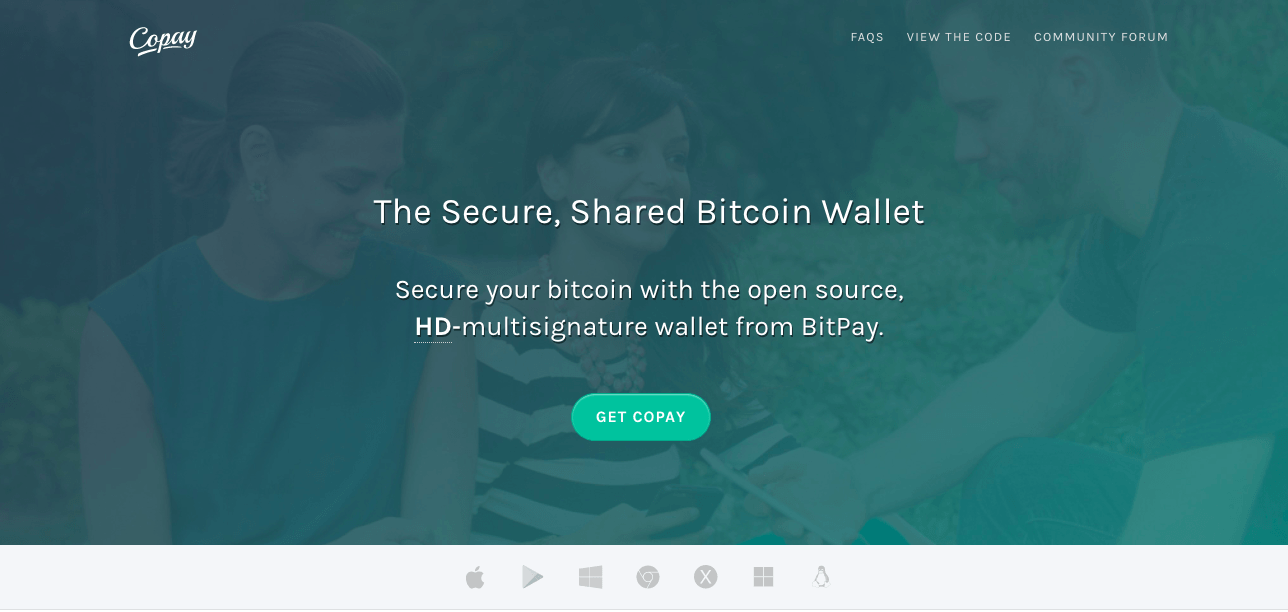 Best cryptocurrency wallet: the Copay cryptocurrency wallet.