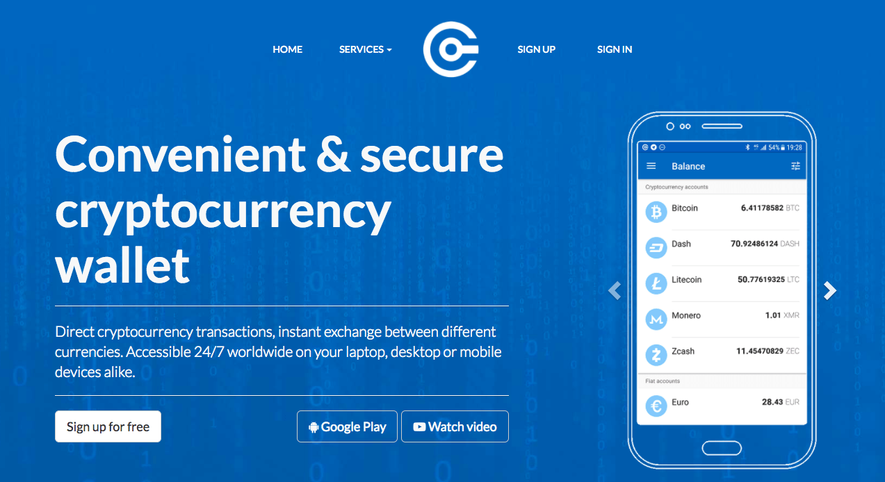 Best cryptocurrency wallet: the Cryptonator cryptocurrency wallet.