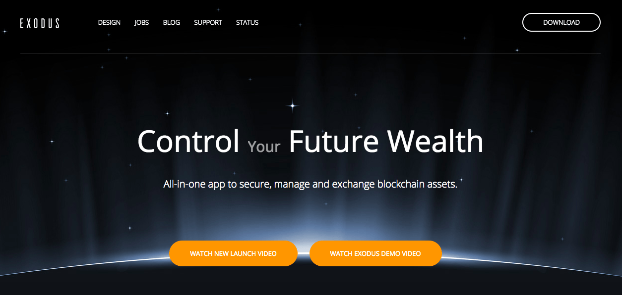 Best cryptocurrency wallet: the Exodus cryptocurrency wallet.