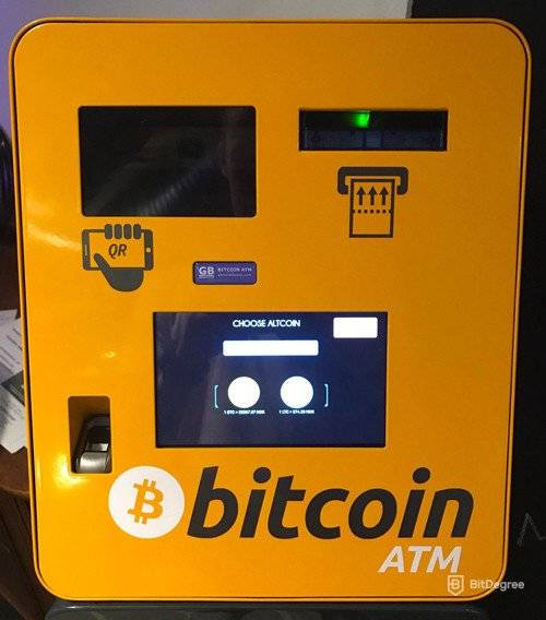 How does Bitcoin work: Bitcoin ATM.