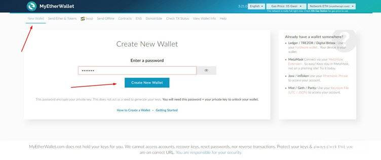 MyEtherWallet Review: creating a personal MEW.