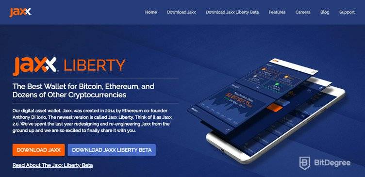 What is Ethereum: the Jaxx Wallet.