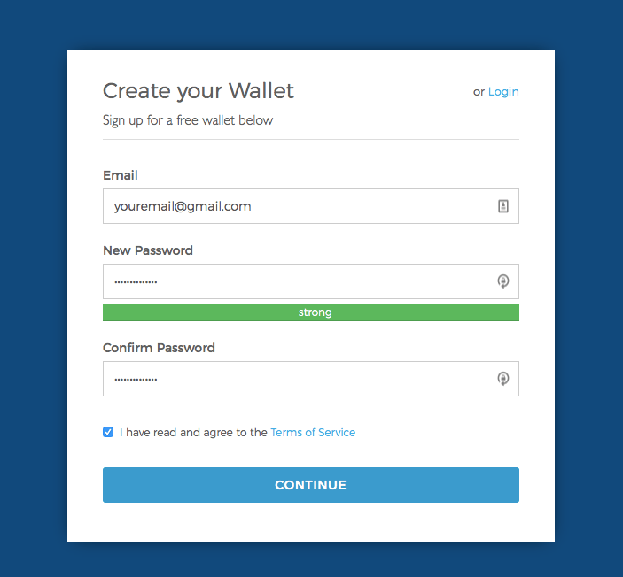 Best Bitcoin wallet: Creating a wallet on Blockchain.com.