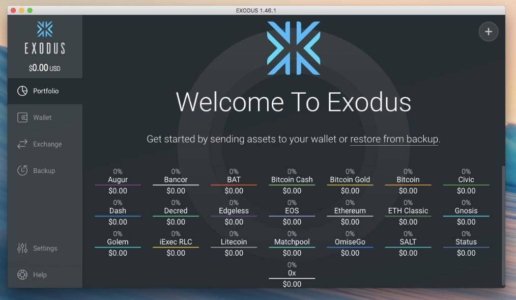 Best Bitcoin wallet: Exodus Bitcoin wallet.