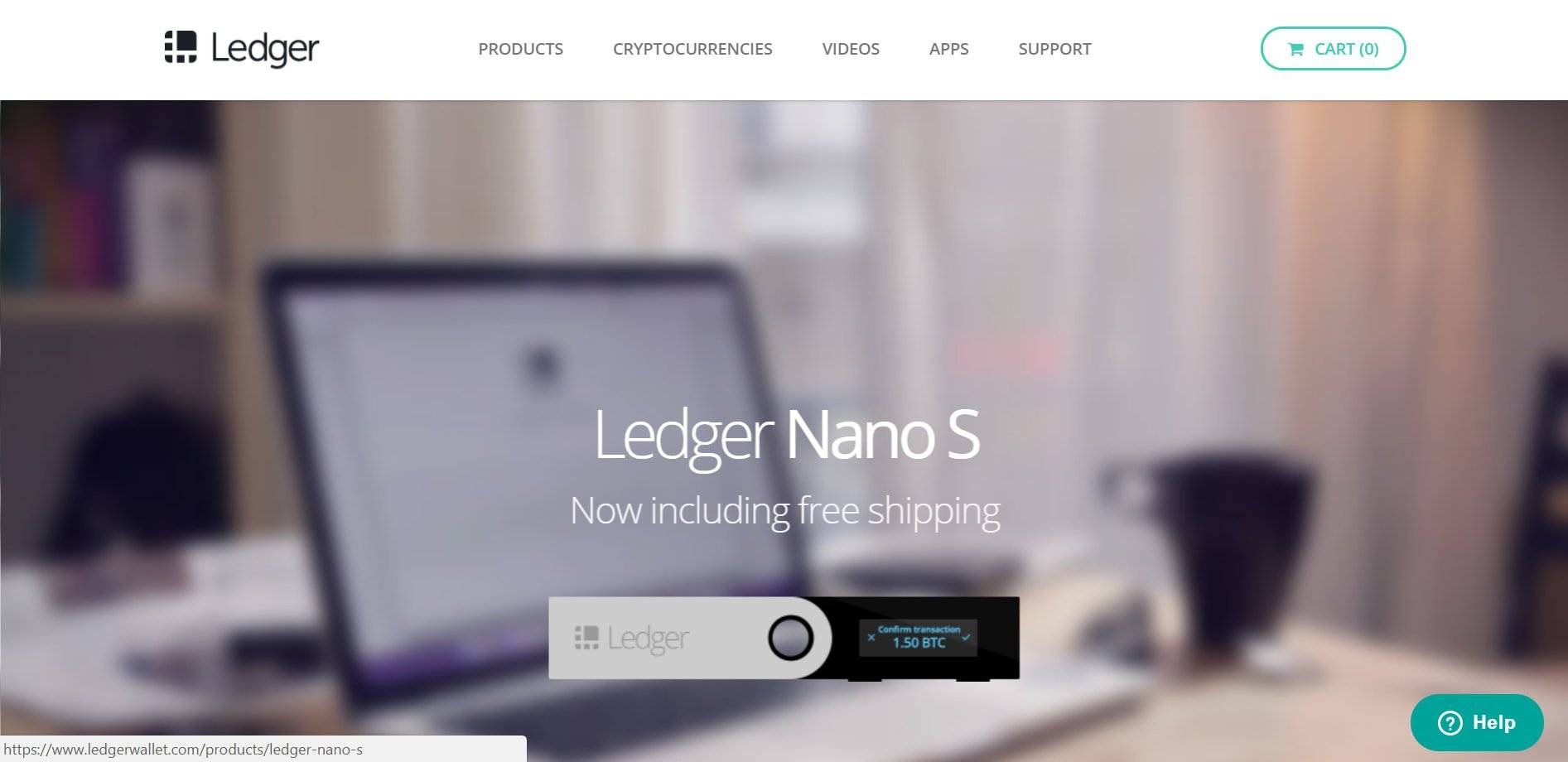 Best Bitcoin wallet: Ledger Nano S front page.