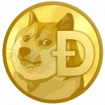 What is Dogecoin: Dogecoin logo.
