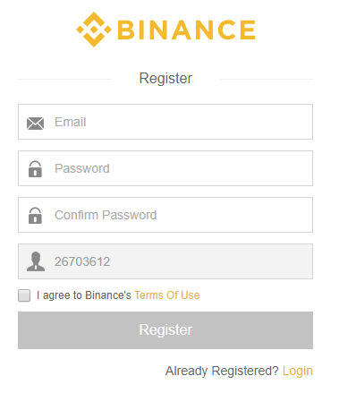 Cómo registrarse en Binance