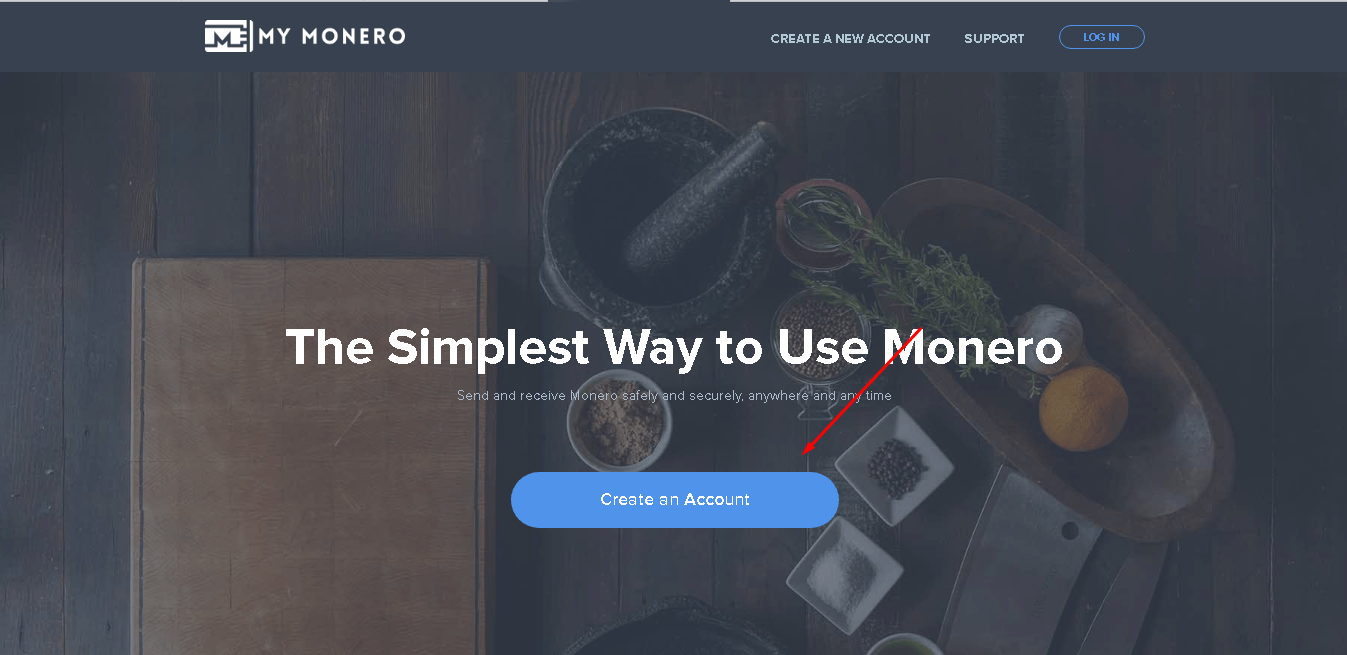 How to create an account on Monero website