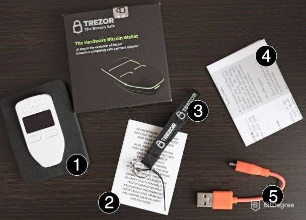 Trezor wallet review: inside the package.