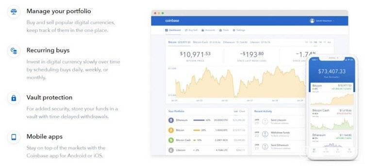 Coinbase cryptocurrency exchange platform