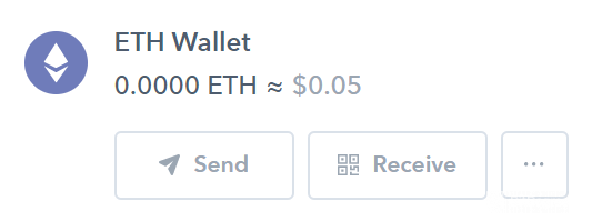 Use of Binance: Coinbase ETH Wallet.