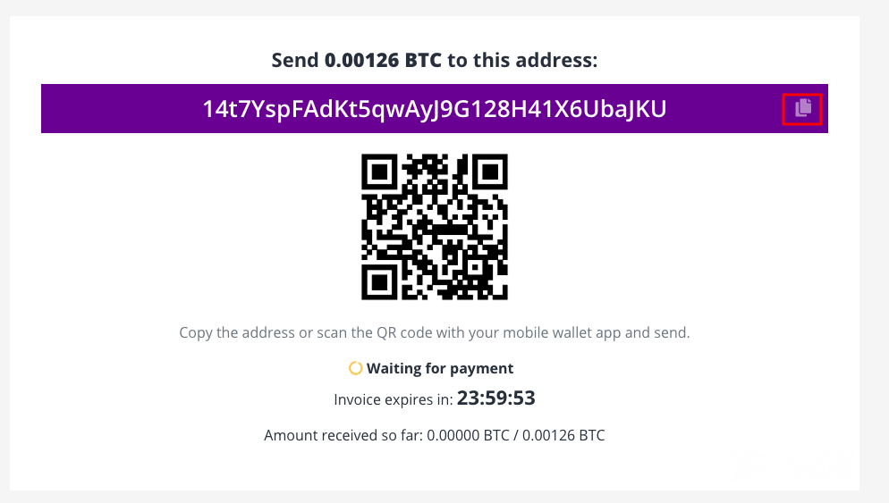 How to buy BDG course with BTC - crypto address