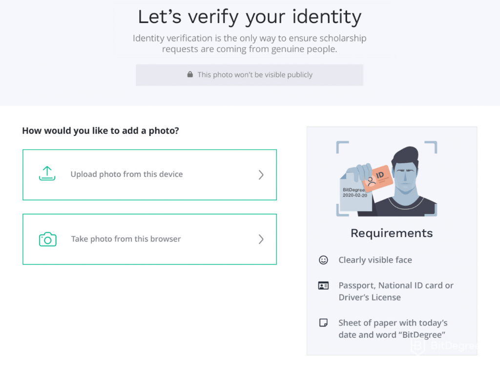identity verification for small sponsorships