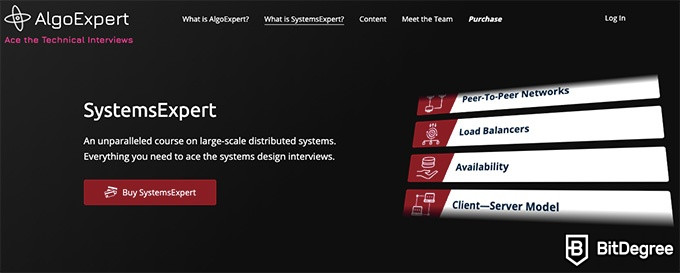 AlgoExpert Review: SystemsExpert homepage