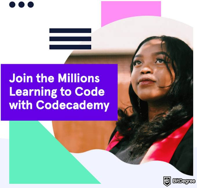 Codecademy review: Codecademy front page.