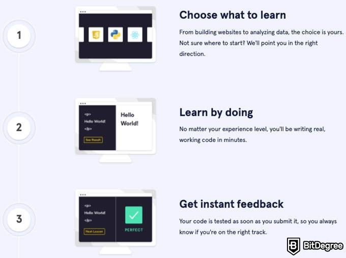 Codecademy review: Codecademy learning.