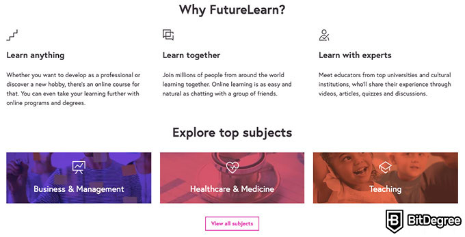 FutureLearn review: features.