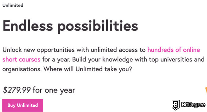 FutureLearn review: pricing.