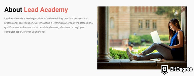 Lead Academy review: about Lead Academy.