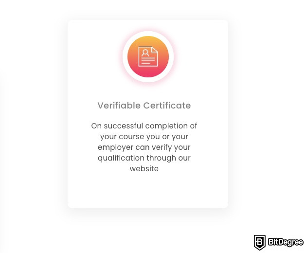 Lead Academy review: verifiable certificates.