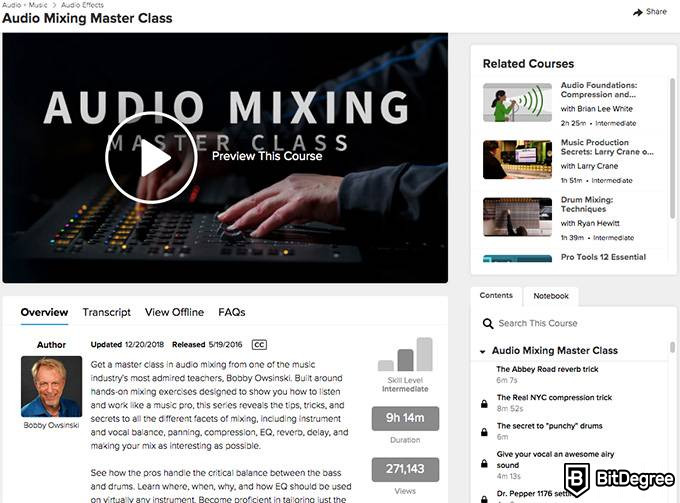 Lynda.com review: audio mixing masterclass.