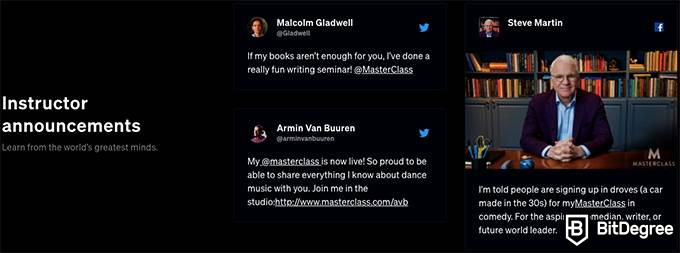 MasterClass review: celebrities on their social media.