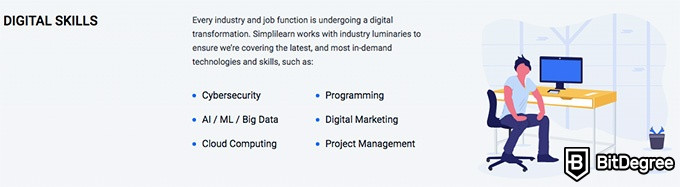 Simplilearn reviews: digital skills.