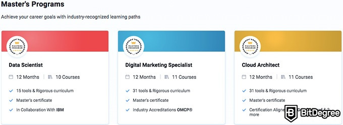 Simplilearn reviews: Master's programs.