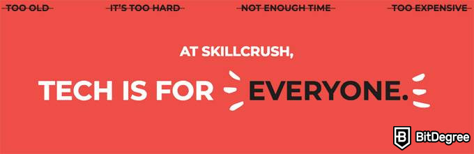 Skillcrush review: the aspect of inclusivity.