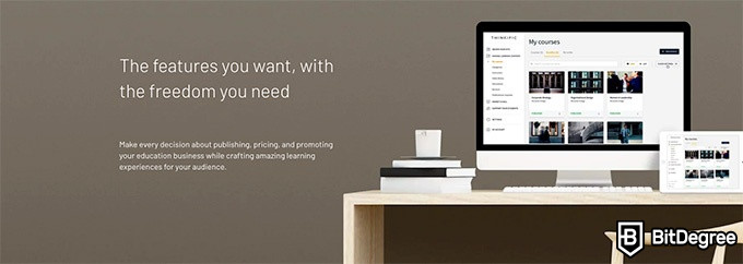 Thinkific reviews: the features you want, with the freedom you need.