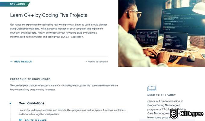 Udacity review: a C++ course on Udacity.