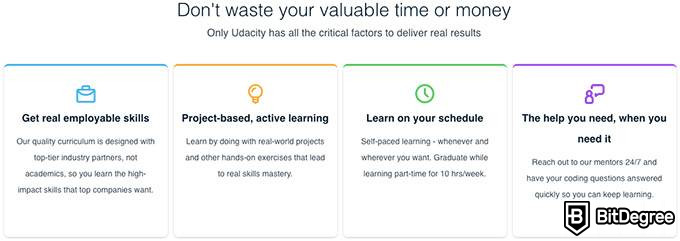 Udacity review: features of Udacity.