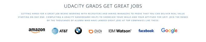 Udacity review: great jobs for Udacity graduates.